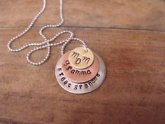 Personalized Hand Stamped Mom Grandma Great Grandma by lololuv, $25.00