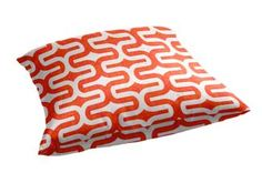 Custom floor pillows are great for watching games! This floor pillow features Embrace in Tangelo and Slub fabric (EMBRACTA). #Auburn #Clemson #VT #UVA #Florida #OSU