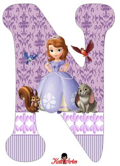 Letra N Princess Sofia disney Sofia The First Birthday Cake, Princess Sofia Birthday, Tangled Birthday, Princess Party, First Birthday Parties, Birthday Party Themes, Tangled Party, Tinkerbell Party, Mickey Mouse Clubhouse Party