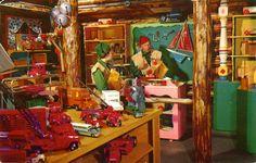 §§§ : Old postcard Santa's Village in Skyforest, CA : New York City, Enchanted Castle, Santa's Village, Visit Santa, Shops, Santas Workshop, Old Postcards, Work Inspiration, Christmas Printables