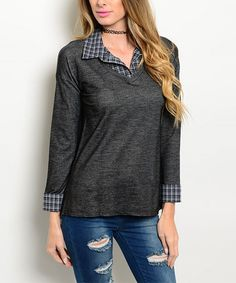 This Charcoal Marled Layered Top is perfect! #zulilyfinds