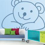 Vinilos decorativos de osito para decoración de habitaciones infantiles