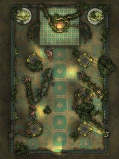 Druid Invasion : dndmaps Fantasy Map, Medieval Fantasy, Fantasy World, Cartographers Guild, Building Map, Rpg Map, Map Pictures, Dungeon Maps, Grid