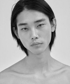Korean Male Models, Asian Male Model, Asian Models, Top Supermodels, Face Profile, Body Reference, Art Reference, Emo Girls, Black And White Portraits