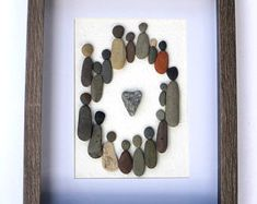 Circle of Love; Circle of Friends; Motivational Pebble Art; Multicultural Gift; Unique Pebble Art Creation; Gift for a teacher; Pebble Art