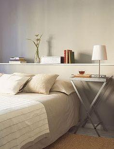 Wonen in DesignLand: HOOFDBORD BED SHELF