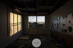 Abandoned factory in Ireland 2013 recession Urbex urban exploration Abandoned Factory, Explore Travel, Urban Exploration, Travel Around, Ireland, Sunlight, Shadows, Interior, Graffiti