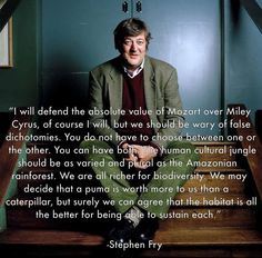 """stephen fry - and the reason I have quit killing even the """"bad"""" bugs in my garden"""