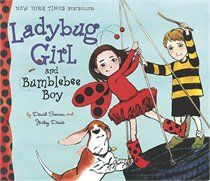 Ladybug Girl And Bumblebee Boy by David Soman and Jacky Davis. We love all the Ladybug Girl books but this is our favourite.