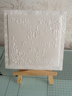 30th Wedding Anniversary Pearl Anniversary, 30th Wedding Anniversary, Birthday Cards, My Love, Frame, Happy, Handmade, Home Decor, Bday Cards