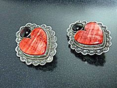 Earrings Spiny & Garnet Sterling Silver David Troutman