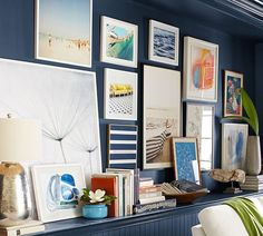 Remember to curate with color! The key to a great gallery wall is mixing and matching the works that speak to you.