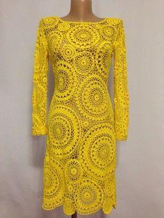 pretty motif dress with diagra Crochet Skirts, Crochet Blouse, Crochet Clothes, Knit Dress, Freeform Crochet, Filet Crochet, Crochet Lace, Mode Crochet, Crochet Woman
