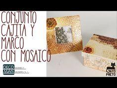 CONJUNTO CAJITA Y MARCO CON TÉCNICA MOSAICO | DECOMAN