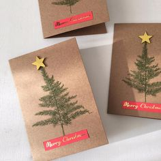 How to Make a Foiled Christmas Card #christmas #card #foiling #gold #fern #papercraft