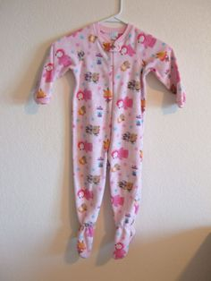b8932e80ba Girls 3T Place Brand One Piece Footed Pajamas. Bear Design.  Place  OnePiece