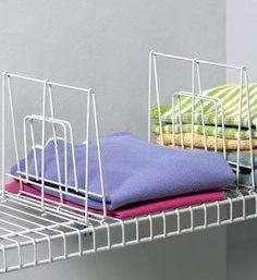 Shelf Dividers effortlessly slide onto closet shelves to create ...