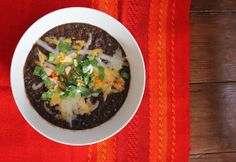 Vegetarian Slow Cooker Black Bean Soup Recipe