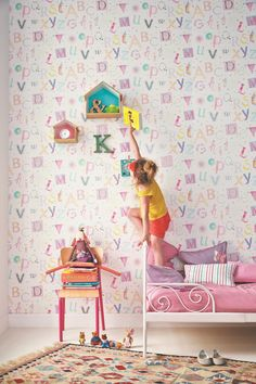 Camengo 'Summer Camp' Tapete Alphabet pink/bunt