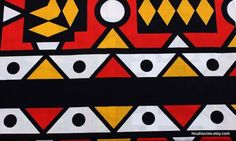 African-Print-Fabric-Ankara-Striking-Red-Yellow-Black-Samakaka-Per-Yd