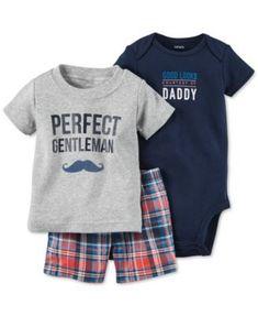 Carter's Baby Boys' 3-Piece Bodysuit, T-Shirt & Shorts Set
