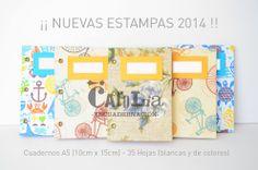 Cuadernos A5 (10cm x 15m) 32 hojas blancas y de colores