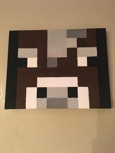 Minecraft Cow Portrait