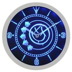 Blink 182 Punk Music Music Neon Sign Bar Wall Clock