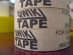 Custom printed tape can be used for all sorts of marketing and fun ideas.  Reference the restaurant with business card print on tape.