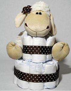 Pastel de pañales para las nuevas mamás