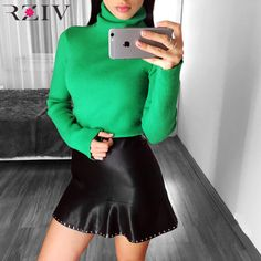 How to Original Price US $32.60 Sale Price US $32.60 RZIV 2017 autumn female sweater casual solid color turtleneck sweater soft wool and cashmere women sweaters and pullovers the recession with one hand tied behind your back #pullovers_sweaters
