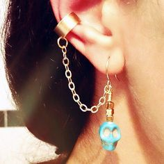 ear cuff & turquoise skull