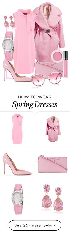 """""""Just a Pop of Pink"""" by li-maison on Polyvore featuring N°21, Boutique Moschino, Givenchy, Chanel, Ebel and Lancôme"""