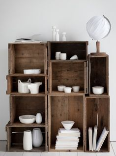lovely storage space but too much dusting required