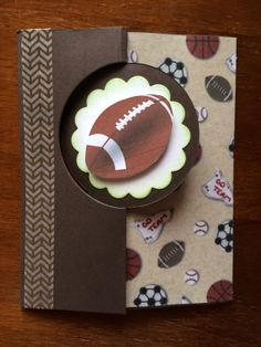 Sport themed birthday card made with the thinlit die from Stampin' Up. Creation By Christina, January 2014
