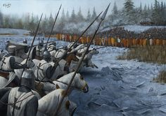 Battle on the Ice was fought between the Republic of Novgorod led by prince Alexander Nevsky and the crusader army led by the Livonian branch of the Teutonic Knights on April 5, 1242, at Lake Peipus