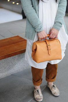 Artemis lederwaren Hand gestikt leer arts tas / Carry op zak