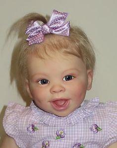 """Violet"", reborn baby Jordyn, by Laura Tuzio-Ross. Finished by artist"