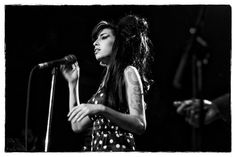 Amy Winehouse performs at The Bowery Ballroom in New York City.    by Chris La Putt