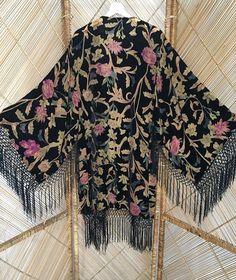 devore kimonofringe kimonoburnout jacketdevore