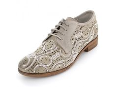 CafèNoir - Trendiger Schnürschuh mit silbernen Nieten Dandy Look, Men Dress, Dress Shoes, Derby, Oxford Shoes, Lace Up, Sneakers, Fashion, Riveting