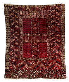 Tekke engsi 4ft. 4in. x 3ft. 6in. 132 x 107 cm Turkmenistan 1870