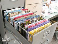 3/2015 Hometalk :: Repurposed Sewing Fabric Storage