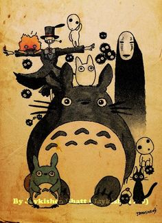 ilovemiyazaki:    Retro Studio Ghibli Fan Poster by ~Jaykishen-ArtDesign