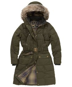 Womens Barbour Belton Quilted Jacket - Olive