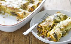 Sweet potato and black bean enchiladas.  Ridiculously good.  These things about made me become a vegetarian.  And so easy!  I use canned sauce because, well, I'm that lazy :P