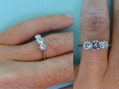 Art Deco platinum diamond 3 stone engagement by antiquejewelbox
