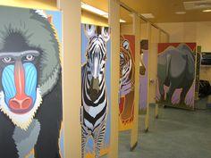 Denver Zoo restrooms Wc Bathroom, School Bathroom, Zoo Signage, Commercial Toilet, Cubicle Design, Toilet Cubicle, Denver Zoo, Restroom Design, Public Bathrooms
