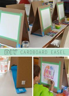 Cardboard easel