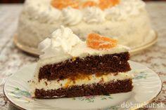 Tvarohovo-kokosová torta s mandarínkami